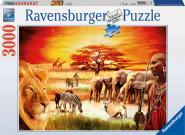 Stolzer Massai            , Ravensburger Puzzle 3000 Teile