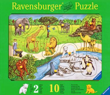 Puzzle Tiere im Zoo