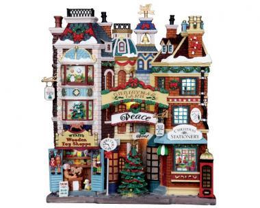 Geschmückte Weihnachtsstrasse