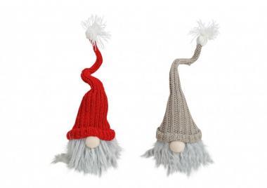 Weihnachtswichtel beige/rot
