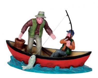 Fischfang auf dem Kanu