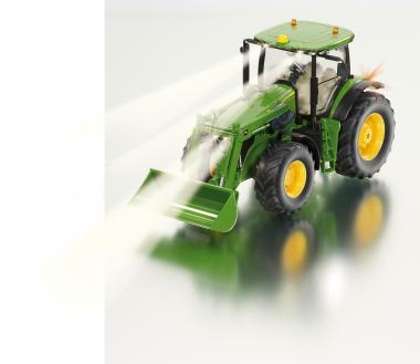 Johne Deere 7R mit Frontlader Traktor Siku Control