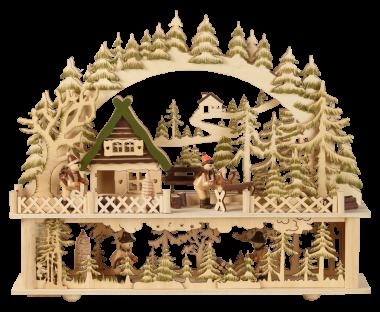 Waldhaus mit Figuren