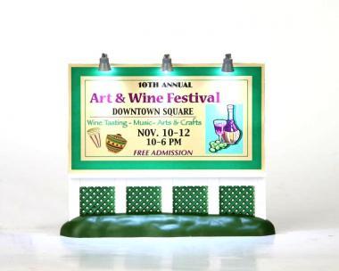 Plakatwand Festival Kunst und Wein