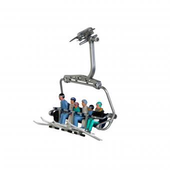 6 Figuren sitzend mit Skiern von HEAD