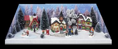Weihnachtsdorf Set 57x19x21cm