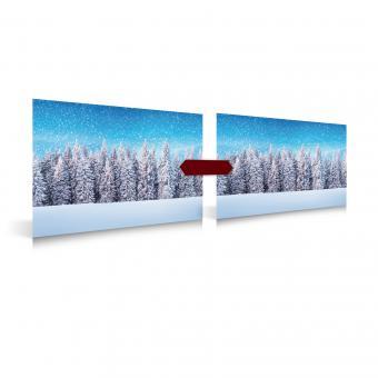 Poster Schnee Wald 2 Stück, 78x58cm