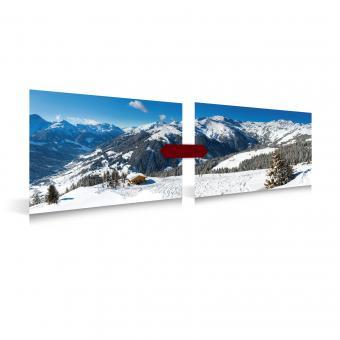 Poster Wintersport 2 Stück, 78x58cm