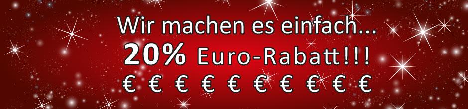 Euro-Rabatt auf alle Marken und Artikel, Lemax, Ravensburger, Siku, Carrera, RC, Modellbau